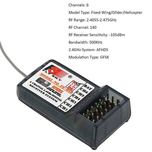 RCmall Flysky FS FS-R6B 2 4G 6 Channel Receiver Radio Model