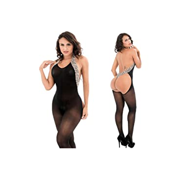 763dbc23a Challen Women Sexy Lingerie for Sex Leopard Push Up Top Bra Fishnet  Crotchless Babydoll Halter Sleepwear Mesh Chemise Bodysuit Sheer Outfits  Fishnet ...