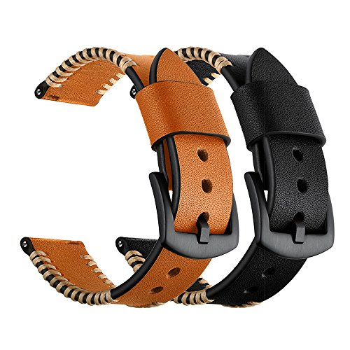 YOOSIDE for Garmin Fenix 5/Forerunner 935 Watch Band,22mm Genuine Leather Replacement Watch Strap for Fenix 5/5 Plus/Forerunner 935,Fit Wrist 5.9''-7.9''(NOT for Fenix 5X/5S) by YOOSIDE (Image #7)