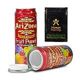 Arizona Fruit Punch Diversion Safe Stash Can 23 oz w HumanFriendly Smell-Proof Bag