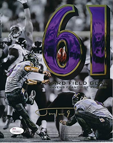 Justin Tucker Ravens Signed/Autographed 8x10 Photo