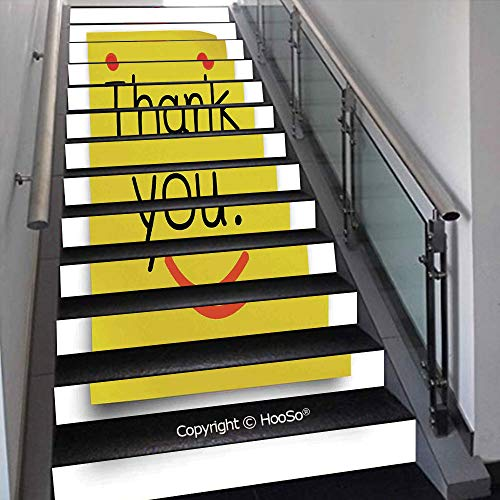 PUTIEN Self-Adhesive Stair Risers Stickers Vinyl Staircase Stickers Stairway Decal Wallpaper, Waterproof, Anti-Stain,Under The Aquarium Theme Cute Swimming Goldfishes with Vivid,39.3