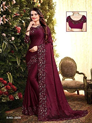 PINKKART Designer Rangoli Silk Saree Blouse Wedding Casual Party wear Indian Women Sari Designer Blouse 9722