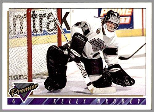 (1993-94 Topps Premier #471 Kelly Hrudey LOS ANGELES KINGS Goalie )