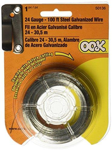OOK 50136 24 Gauge, 100ft Steel Galvanized Wire by OOK