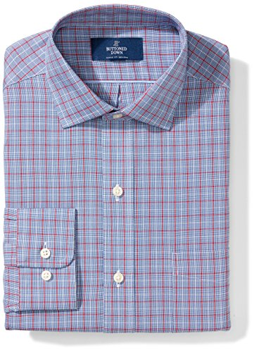 Buttoned Down Men's Classic Fit Spread-Collar Pattern Non-Iron Dress Shirt With Pocket
