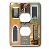 3dRose Susan Kjellsen Photography - Windows - Antique windows - Light Switch Covers - 2 plug outlet cover (lsp_280229_6)