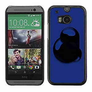 Planetar® ( Blue Abstract ) Fundas Cover Cubre Hard Case Cover All New HTC One (M8)