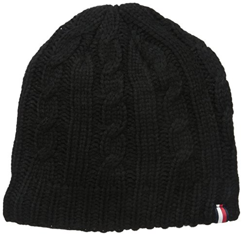 Tommy Hilfiger Men's Cold Weather Knit Beanie, Obsidian, OS -