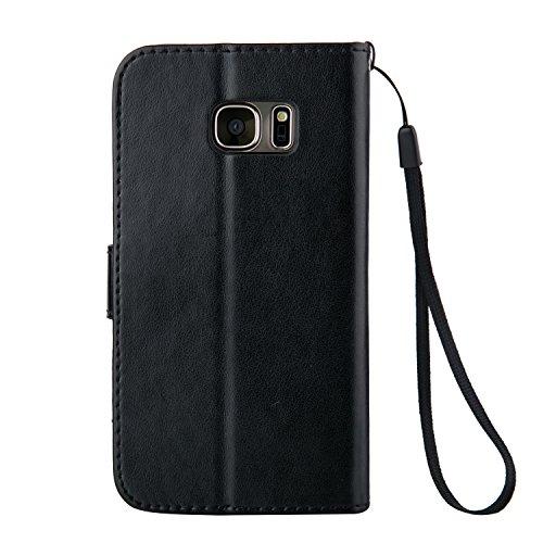 ZeWoo Funda de PU Piel - LD103 / Negro - para Samsung Galaxy Note 5 (5,7 pulgadas) carcasas y fundas