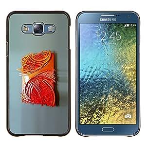 YiPhone /// Prima de resorte delgada de la cubierta del caso de Shell Armor - Pintura del cartel del arte moderno - Samsung Galaxy E7 E700