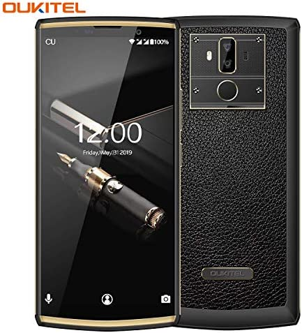 OUKITEL K7 Pro Unlocked Phone, 10000mAh Extend Life Cell Phone Unlocked Android Smartphone 64+4GB Dual Sim International Phone -Real Calf Leather Back Cover Decorated