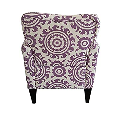 Joveco Printing Armchair for Living Dining Room with birch Wood Legs