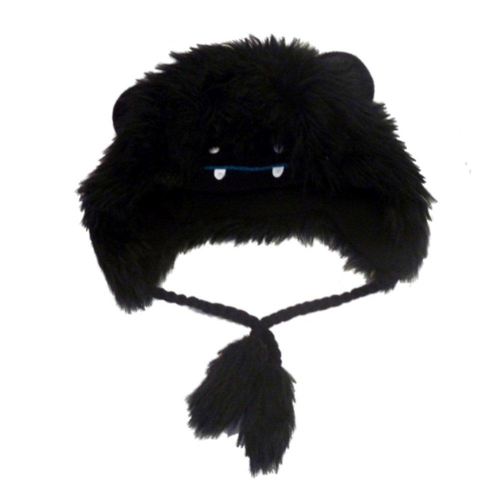 Manhattan Hat Companyレディースブラックファーモンスター帽子Critterペルートラッパー   B00CTBKT0Y