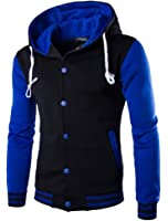 OUCHI Men's Cardigan Coat Sportwear Single Breasted Winter Thick Fashion Hoodie