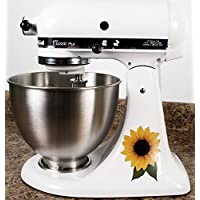 Sunflower Floral Bakery Vinyl Decals for Kitchen Mixers