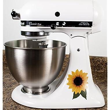 Sunflower Floral Bakery Kitchenaid Mixer Mixing Machine Decal Art Wrap