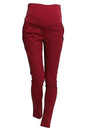 Pantalones de mujeres embarazadas - SODIAL(R) Pantalones de polainas de vientre abdominal de