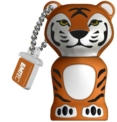 EMTEC M329 Animal Series Jungle 8 GB USB 2.0 Flash Drive (Tiger)