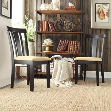 Lexington Slat Back Dining Chairs, Set Of 2, Black
