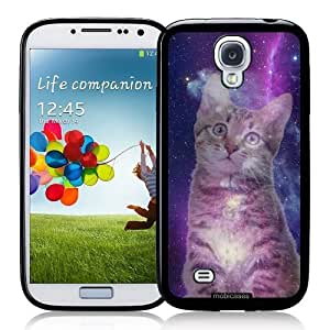 diy phone caseCool Painting Hipster Cat Galaxy - Protective Designer BLACK Case - Fits Samsung Galaxy S4 i9500diy phone case