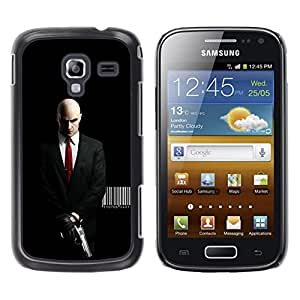 Design for Girls Plastic Cover Case FOR Samsung Galaxy Ace 2 AGENT 47 HITMAN DEADLY ASSASSIN OBBA