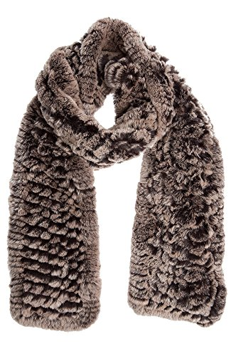 Knitted Rex Rabbit Fur Scarf by Overland Sheepskin Co