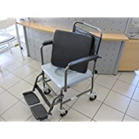 Toilettenstuhl fahrbar H720T von AQUATEC INVACARE Toilettenrollstuhl Rollstuhl - BILDER UNBEDINGT ANSEHEN !