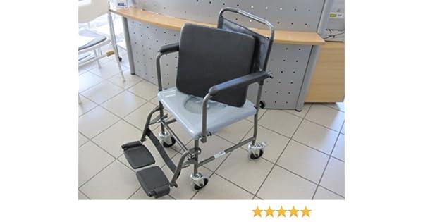 Invacare Aquatec H720T - Silla de ruedas con inodoro integrado: Amazon.es: Salud y cuidado personal