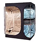 TopoGrow 2-in-1 Indoor Grow Tent 60″X48″X80″ 600D High-Reflective W/2-Tiered for Lodge Propagation and Flower (60″X48″X80″) For Sale