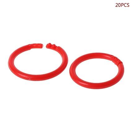 20 aros de plástico con diseño de círculos, multifuncionales ...