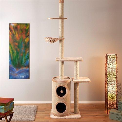 Scratching-tree-FILOU-ceiling-high-cream-240-260-cm