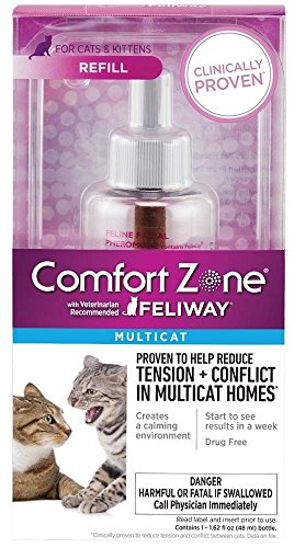 t with Feliway Cats Diffuser Refill 48ml New Safe Formula (Feliway Electric Diffuser)