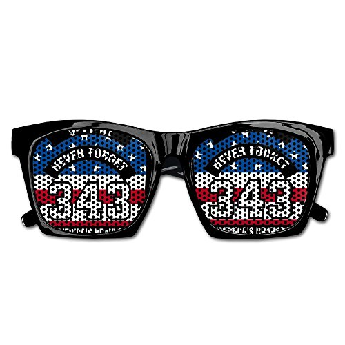 Elephant AN Themed Novelty Never Forget 911 343 Firefighters Hero Wedding Visual Mesh Sunglasses Fun Props Party Favors Gift - Firefighters For Sunglasses Discount