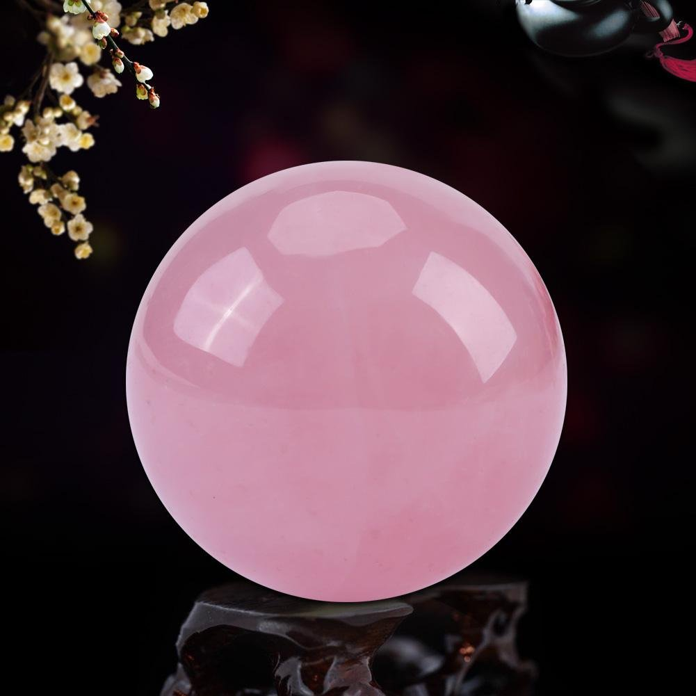 1 Pc Healing Crystal Ball Natural Pink Rose Quartz Stone Sphere Diameter 2.5 cm/0.98 inch Zerone