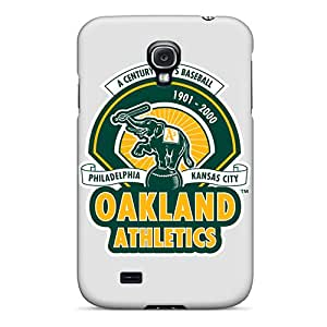Durable Cell-phone Hard Covers For Samsung Galaxy S4 (wbu1758YPKP) Support Personal Customs High Resolution Oakland Athletics Pictures