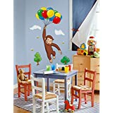 Curious George Wall Decal 18 x 40in