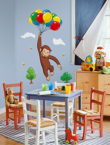 (Curious George Wall Decal 18 x 40in)