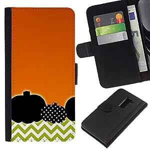 A-type (Polka Dot Orange Chevron) Colorida Impresión Funda Cuero Monedero Caja Bolsa Cubierta Caja Piel Card Slots Para LG G2 D800