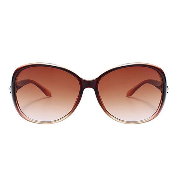 Aikesi - Gafas de sol - para mujer Marrón marrón M: Amazon ...
