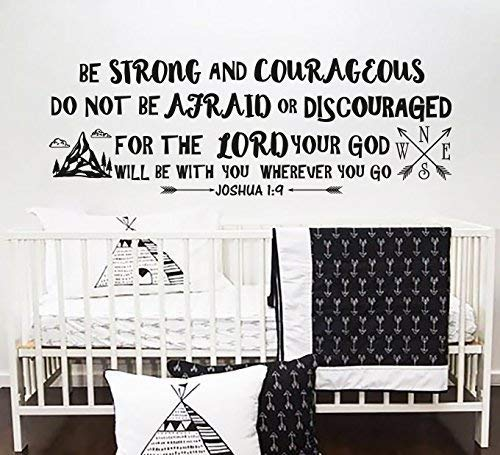 Cheap  Joshua 1:9 Wall Decal Quote Be Strong And Courageous Quotes Decals Wall..