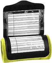 CHAMPRO Triple Wristband Playbook, Adult, Optic Yellow