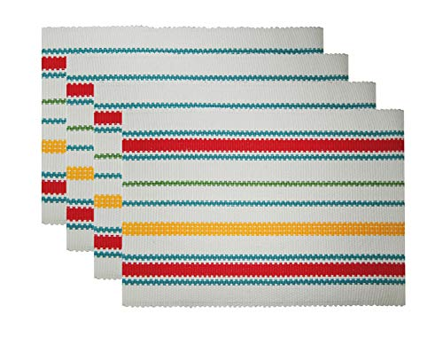 Tiny Break Vintage Stripe Ribbed Table Place Mats, Pack of 4