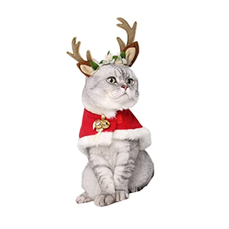 Christmas Dog Costumes Cats Costume Dogs Cute Santa Claus Pet Clothes Suit Xmas  Outfits for Small - Amazon.com: Christmas Dog Costumes Cats Costume Dogs Cute Santa