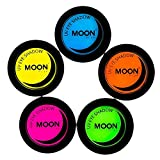 Moon Glow - Blacklight Neon Eye Shadow 0.12oz Set of 5 colors – Glows brightly under Blacklights / UV Lighting!