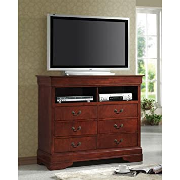 Amazon.com: Coaster TV Dresser Stand Louis Philippe estilo ...