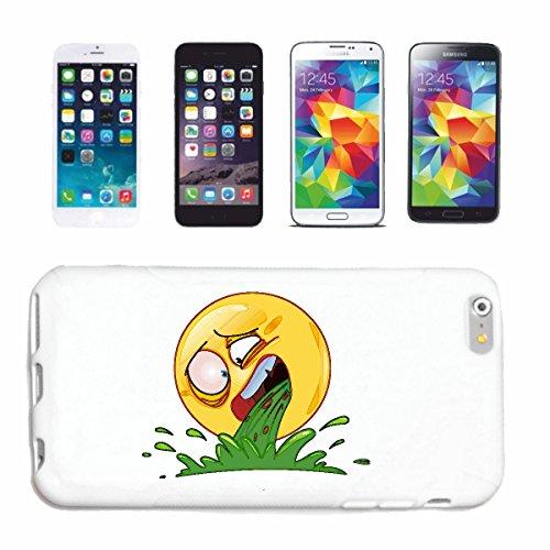 """cas de téléphone iPhone 7S """"SMILEY LE BREAK SUCE """"SMILEYS SMILIES ANDROID IPHONE EMOTICONS IOS sa sourire EMOTICON APP"""" Hard Case Cover Téléphone Covers Smart Cover pour Apple iPhone en blanc"""