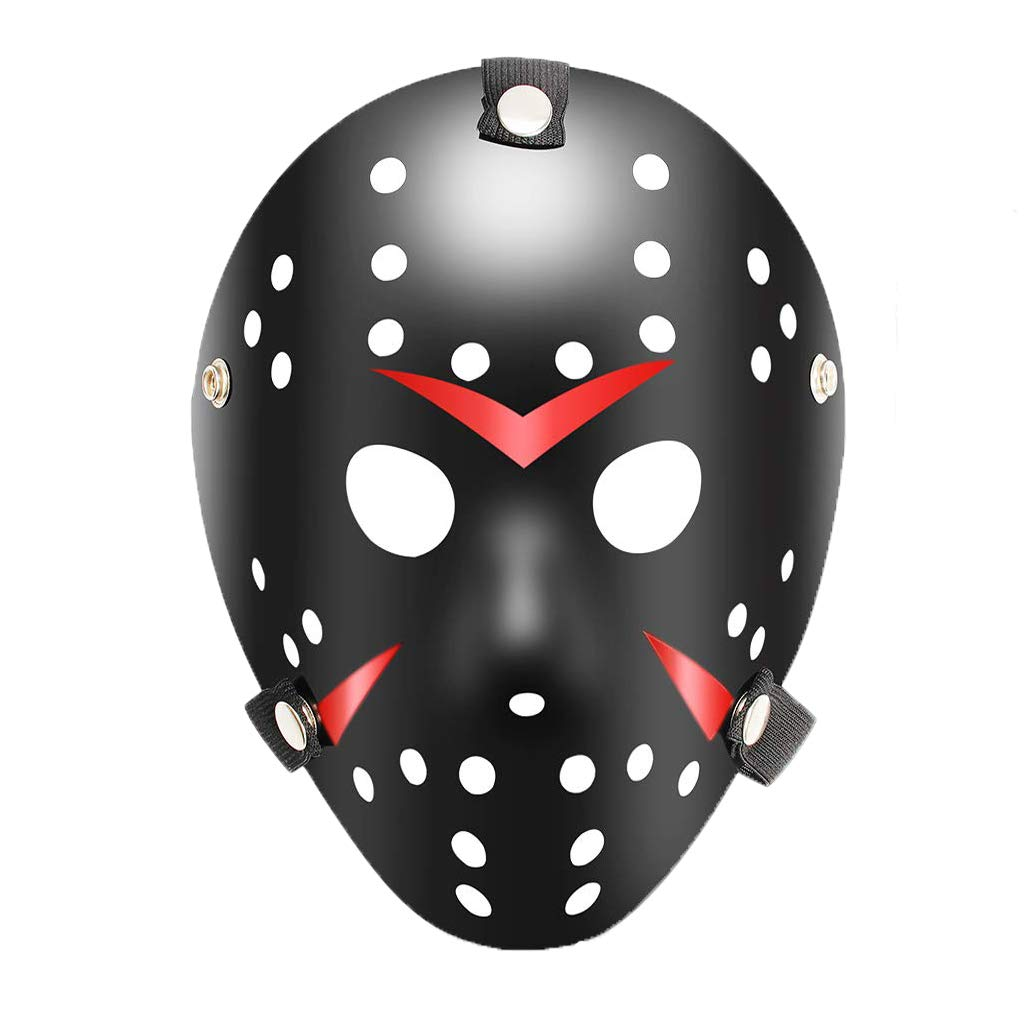 Halloween Jason Mask Black Costume Hockey Mask Party Cosplay Props