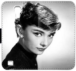 Audrey Hepburn Decal K2X4I Funda Samsung Galaxy S4 caja de cuero funda 6765Cj caso del tirón del teléfono fundas Claro