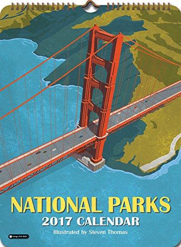 Orange Circle Studio 2017 Poster Wall Calendar, National Parks (63010)